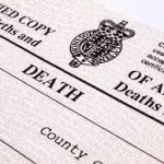 a picture of a death certificate