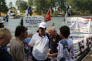 A photo of the celebration at Gaston Lake