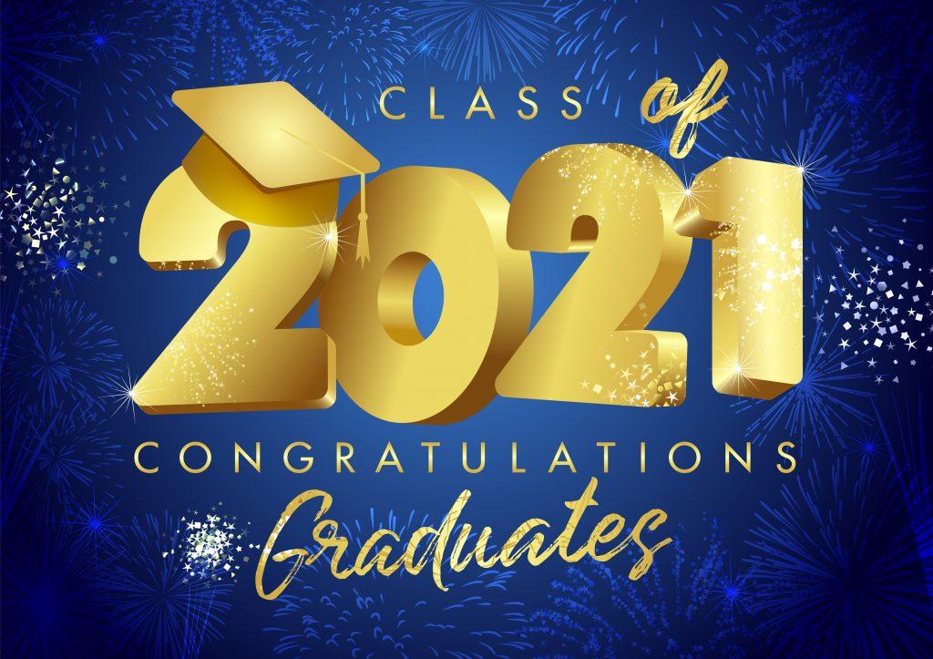 Class of 2021 year graduation banner