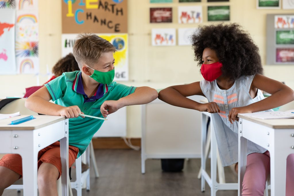 Education back to school health safety during Covid19 Coronavirus pandemic.