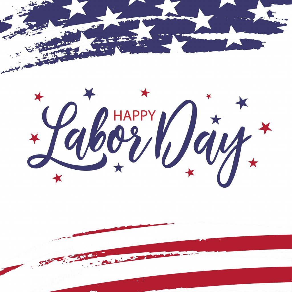 Happy Labor Day. Usa federation holiday. United States of America national flag